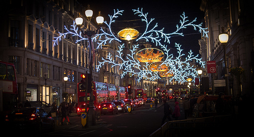 View the spectacular London Christmas lights from your very own private limo.